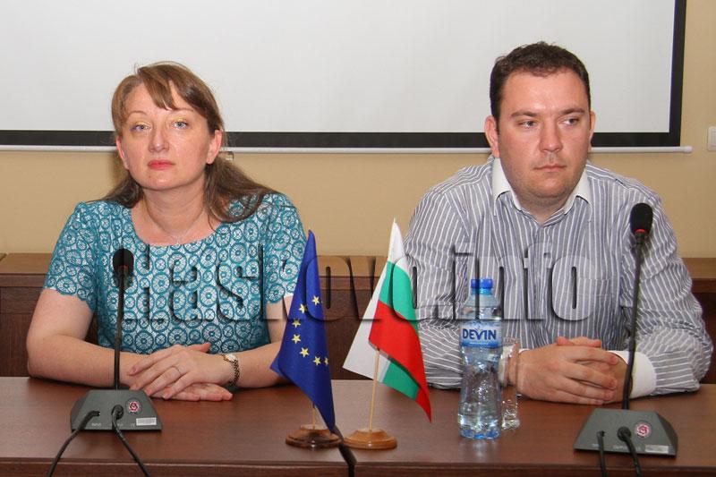 Деница Сачева и Николай Балканов. Снимка: Haskovo.info